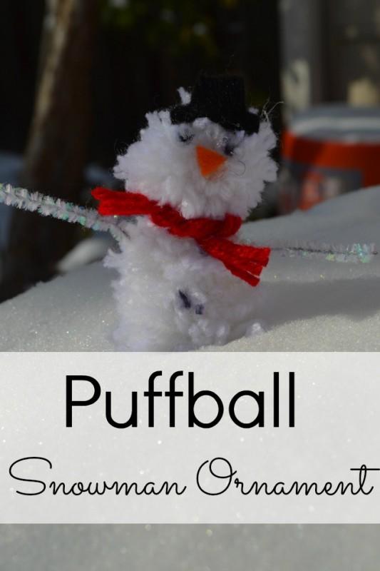 homemade ornaments  pom pom snowman