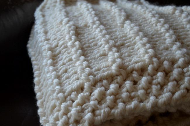 A Chunky Garter Stripe Blanket Knitting Pattern For Beginners